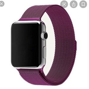 Accessories - Purple magnetic apple watch band